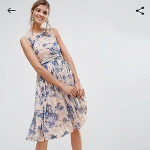 Asos floral tea dress